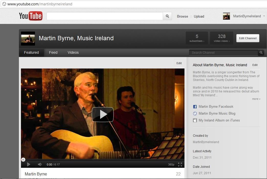 martin byrne music youtube