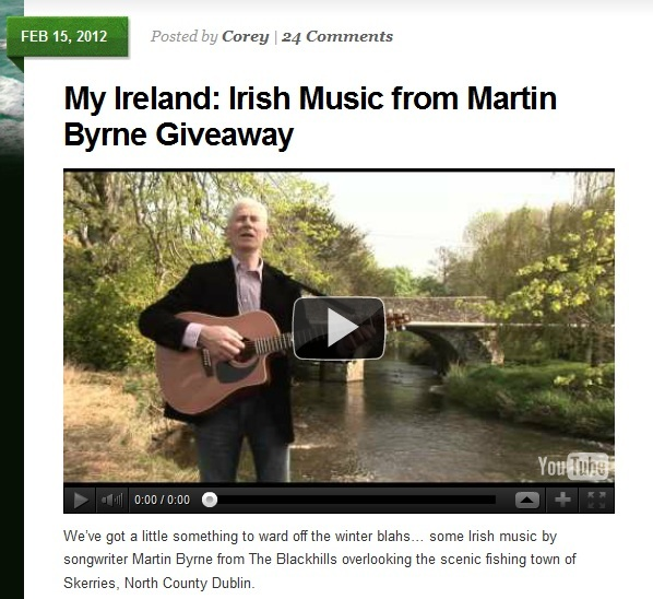Martin Byrne Irish Fireside website