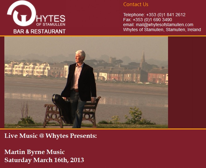 martin byrne, whytes stamullen