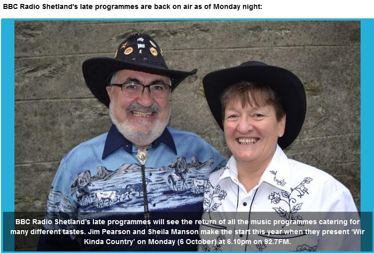 wir kinda country, bbc radio shetland